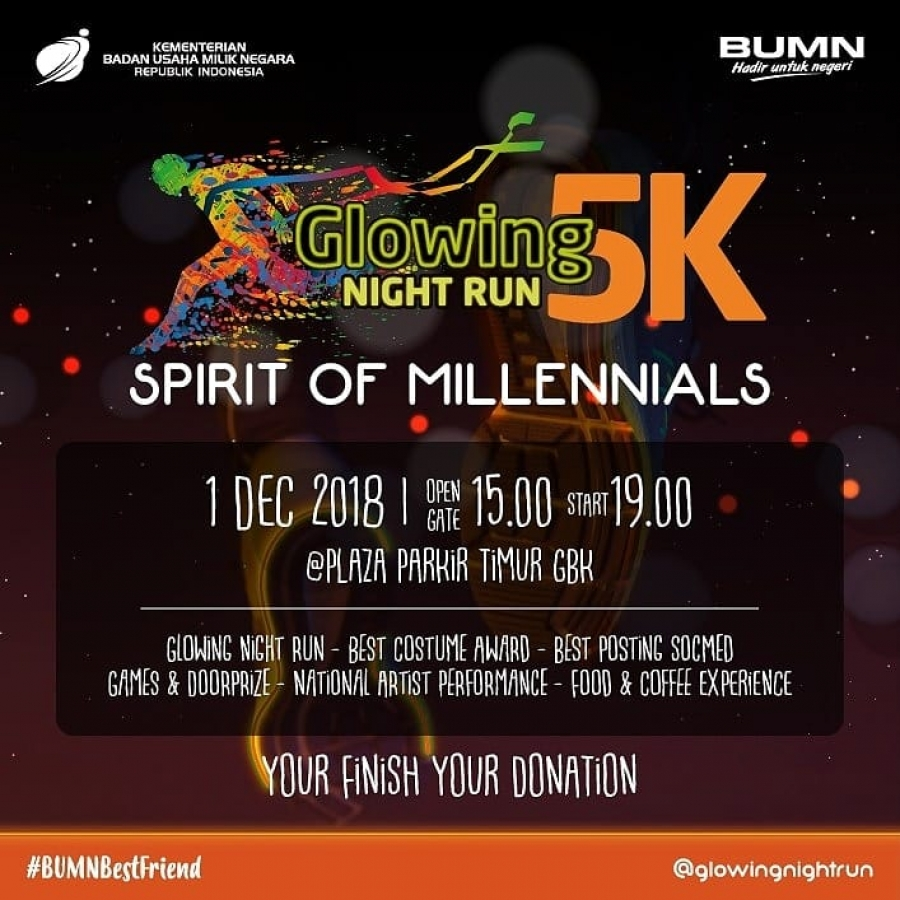 1/12/18 Glowing Night Run