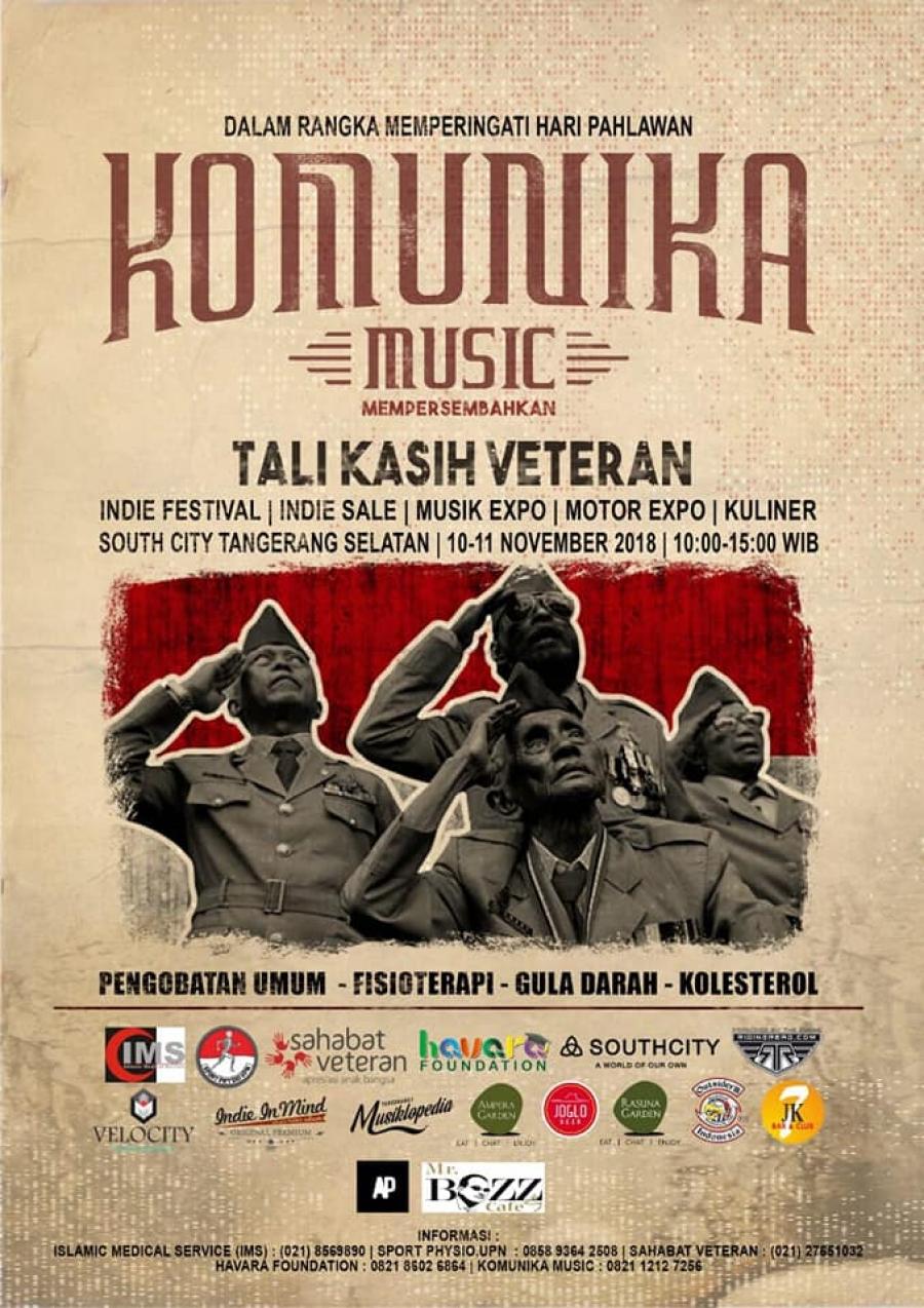 10-11/11/18 Sahabat Veteran mendukung kegiatan yang diselenggarakan Komunika Music